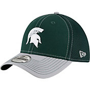 New Era Men's Michigan State Spartans Green/Grey Team Front Neo 39Thirty Hat