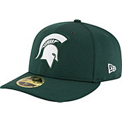 New Era Men's Michigan State Spartans Green Bevel Team Low Profile 59Fifty Hat