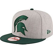 New Era Men's Michigan State Spartans Grey/Green Grand Snap 9Fifty Adjustable Hat