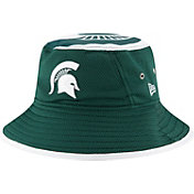 New Era Men's Michigan State Spartans Green Logo Topper Bucket Hat