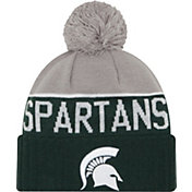 New Era Men's Michigan State Spartans Green/Grey NE 15 Sport Knit Beanie