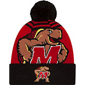 New Era Men's Maryland Terrapins Black/Red Logo Whiz 2 Knit Beanie