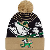 New Era Men's Notre Dame Fighting Irish Gold/Blue Logo Whiz 2 Knit Beanie
