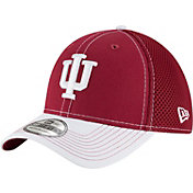 New Era Men's Indiana Hoosiers Crimson/Cream Team Front Neo 39Thirty Hat
