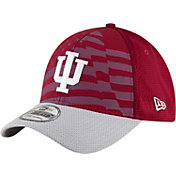 New Era Men's Indiana Hoosiers Cardinal/Grey NE 15 Stars 39Thirty Performance Hat