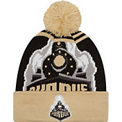 New Era Men's Purdue Boilermakers Old Gold/Black Logo Whiz 2 Knit Beanie