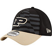 New Era Men's Purdue Boilermakers Black/Old Gold NE 15 Stars 39Thirty Performance Hat