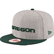 New Era Men's Oregon Ducks Grey/Green Grand Snap 9Fifty Adjustable Hat