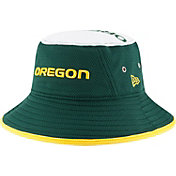 New Era Men's Oregon Ducks Green Logo Topper Bucket Hat