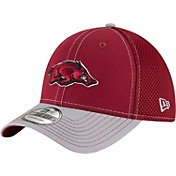 New Era Men's Arkansas Razorbacks Cardinal/Grey Team Front Neo 39Thirty Hat