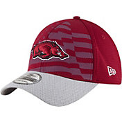 New Era Men's Arkansas Razorbacks Cardinal/Grey NE 15 Stars 39Thirty Performance Hat