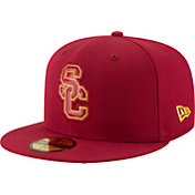 New Era Men's USC Trojans Cardinal Bevel Team Low Profile 59Fifty Hat