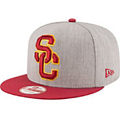 New Era Men's USC Trojans Heather Grey/Cardinal Basic Snap 9FIFTY Hat