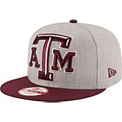 New Era Men's Texas A&M Aggies Grey/Maroon Grand Snap 9Fifty Adjustable Hat