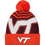 New Era Men's Virginia Tech Hokies Orange/Maroon Logo Whiz 2 Knit Beanie