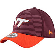 New Era Men's Virginia Tech Hokies Maroon/Burnt Orange NE 15 Stars 39Thirty Performance Hat
