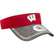 New Era Men's Wisconsin Badgers Red/Grey Training Visor