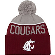 New Era Men's Washington State Cougars Crimson/Grey NE 15 Sport Knit Beanie
