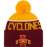 New Era Men's Iowa State Cyclones Cardinal/Gold NE 15 Sport Knit Beanie