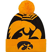 New Era Men's Iowa Hawkeyes Gold/Black Logo Whiz 2 Knit Beanie