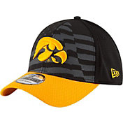 New Era Men's Iowa Hawkeyes Black/Gold NE 15 Stars 39Thirty Performance Hat