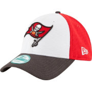 New Era Men's Tampa Bay Buccaneers Perfect Block White 9Forty Adjustable Hat