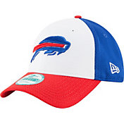 New Era Men's Buffalo Bills Perfect Block White 9Forty Adjustable Hat