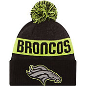 New Era Men's Denver Broncos Sport Cyber Yellow Knit Beanie
