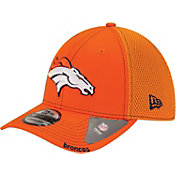 New Era Men's Denver Broncos 39Thirty Neo Orange Flex Fitted Hat
