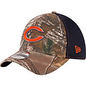 New Era Men's Chicago Bears Real Tree Neo 39Thirty Camouflage Flex Hat
