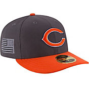New Era Men's Chicago Bears Crafted in America 59Fifty Graphite Fitted Hat