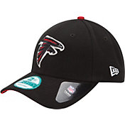 New Era Men's Atlanta Falcons League 9Forty Adjustable Black Hat
