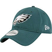 New Era Men's Philadelphia Eagles Perf Shore 9Twenty Green Adjustable Hat