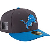 New Era Men's Detroit Lions Crafted in America 59Fifty Graphite Fitted Hat