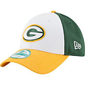New Era Men's Green Bay Packers Perfect Block White 9Forty Adjustable Hat
