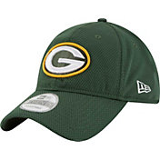 New Era Men's Green Bay Packers Perf Shore 9Twenty Green Adjustable Hat