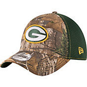New Era Men's Green Bay Packers Real Tree Neo 39Thirty Camouflage Flex Hat