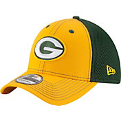 New Era Men's Green Bay Packers Team Front Neo 39Thirty Flex Hat