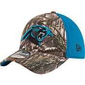 New Era Men's Carolina Panthers Real Tree Neo 39Thirty Camouflage Flex Hat