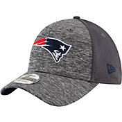 New Era Men's New England Patriots Shadowed Team 39Thirty Grey Flex Hat