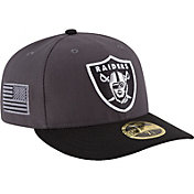 New Era Men's Oakland Raiders Crafted in America 59Fifty Graphite Fitted Hat