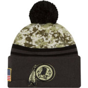 New Era Men's Washington Redskins Salute to Service 2016 Camo Cuff Knit