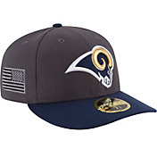New Era Men's Los Angeles Rams Crafted in America 59Fifty Graphite Fitted Hat