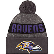 New Era Men's Baltimore Ravens Sport Grey Knit Beanie