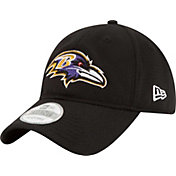 New Era Men's Baltimore Ravens Perf Shore 9Twenty Black Adjustable Hat