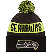 New Era Men's Seattle Seahawks Sport Cyber Yellow Knit Beanie
