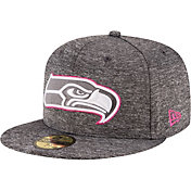 New Era Men's Seattle Seahawks Breast Cancer Awareness 59Fifty Grey Fitted Hat