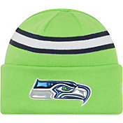New Era Men's Seattle Seahawks Color Rush 2016 On-Field Knit Hat