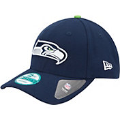 New Era Men's Seattle Seahawks League 9Forty Adjustable Navy Hat