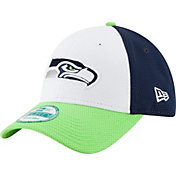 New Era Men's Seattle Seahawks Perfect Block White 9Forty Adjustable Hat